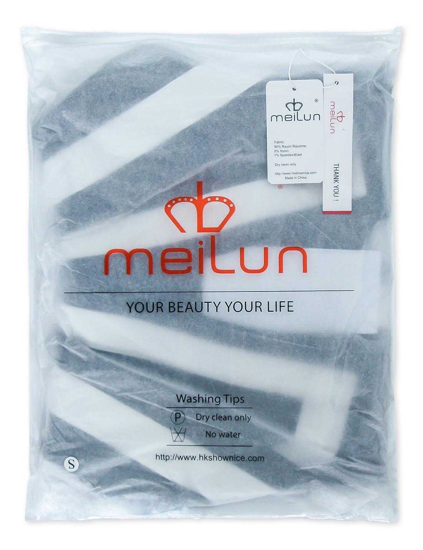 Meilun Women's 2 Pcs Striped Night Club Party Bandage Top Set Pants Jumpsuits