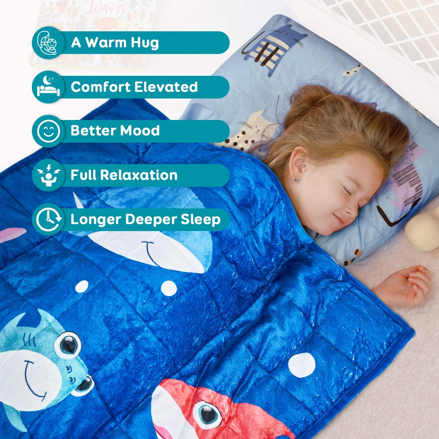 Ultra Comfy Flannel with Cute Cartoon Prints 36x48 Pink Mermaid Topblan Kids Fleece Weighted Blanket 3lbs for Toddlers Plush Fuzzy Warm Coral Velvet Throw Blanket