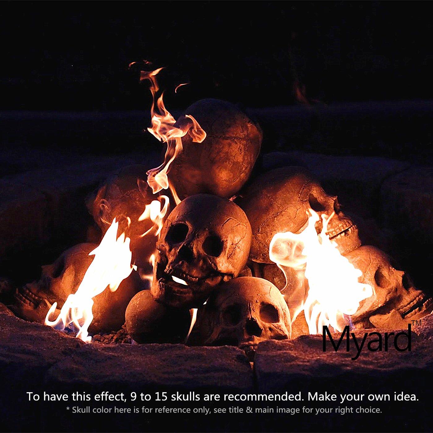 Amazon.com: Myard - Lote de 3 troncos de gas para chimenea ...
