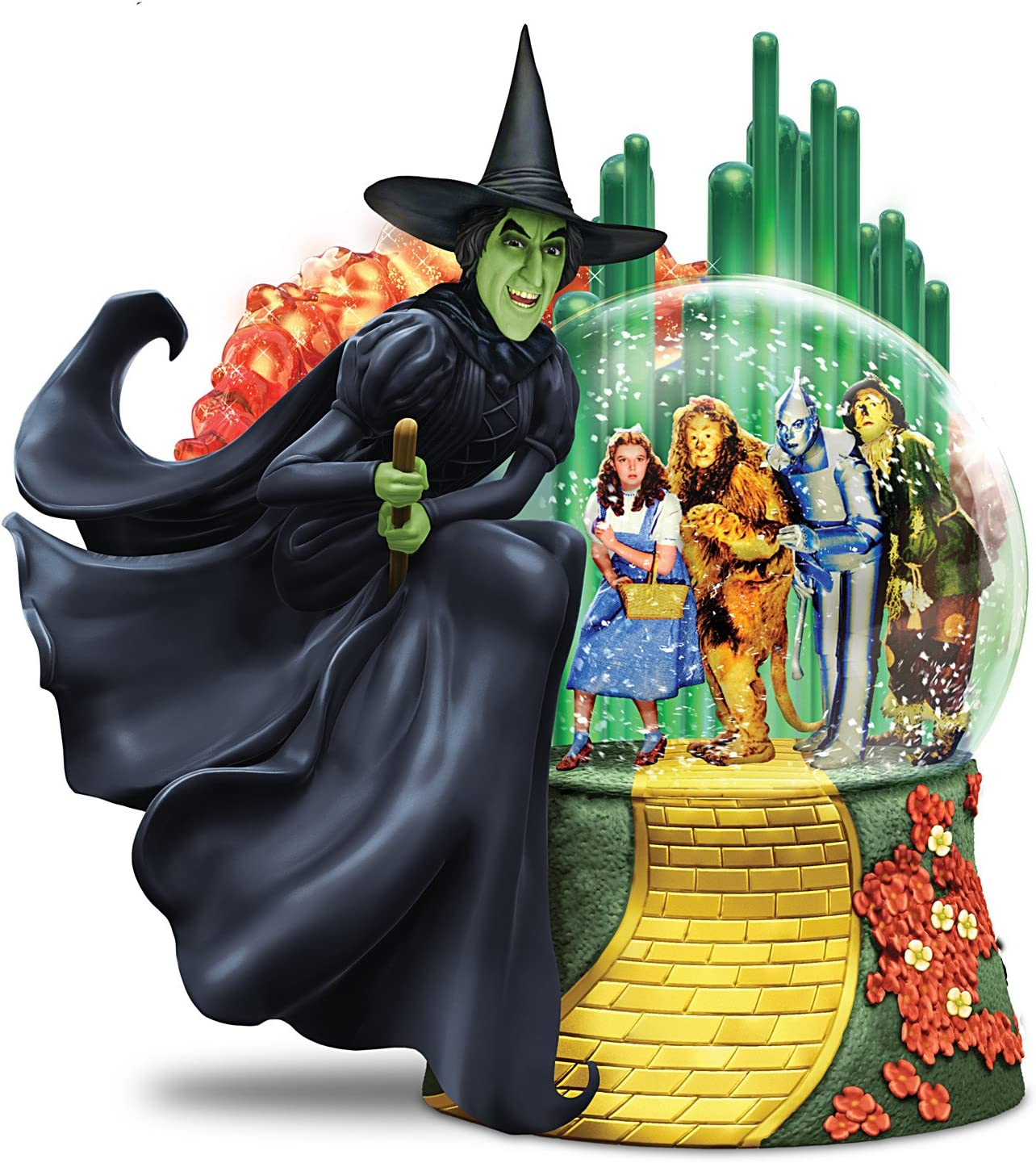 The Bradford Exchange Wizard of OZ Wicked Witch of The WEST Musical Glitter Globe Lights Up