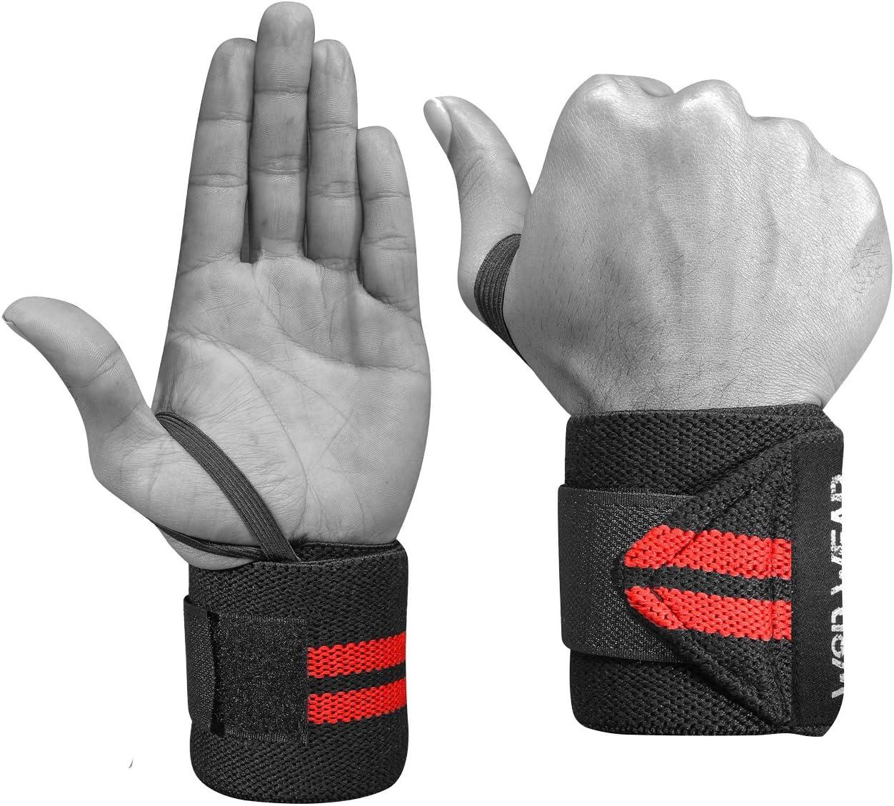 Par de Munhequeiras Faixa de Pulso Proteção Treino Straps Powerlifting Crossfit