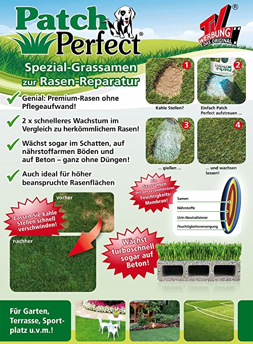 Tv Das Original 04861 Patch Perfect Spezial Grassamen Zur Rasen