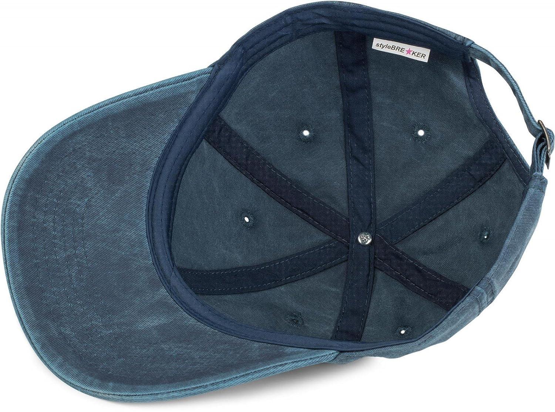 Unisex 04023054 verstellbar styleBREAKER 6-Panel Vintage Cap im Washed Used Look Baseball Cap