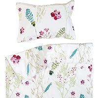 Parure de lit pour enfant Wellyou rose//blanc carreaux vichy 100/% coton