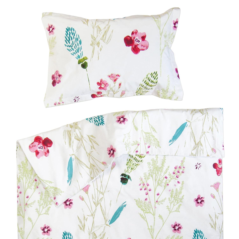 Sabrina - Pati'Chou 100% Coton Linge de lit pour bébé (Taie d'oreiller et Housse de couette 80x120 cm) SoulBedroom