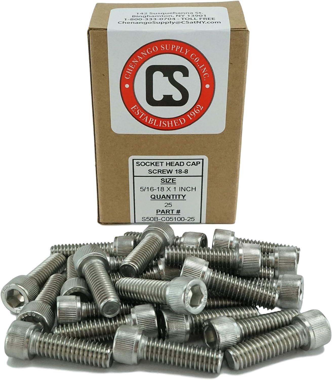 3//8-5//16-18 x 1 1//4 Coarse Thread Socket Shoulder Screw Stainless Steel 18-8 Pk 25