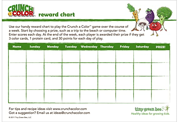 Amazon.com: Crunch a Color The Healthy Eating Game for Kids: Toys ...