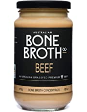 Australian Beef Bone Broth Concentrate - New 375 Gram Jar - Build Your Immune System, Gut Health, Bone + Joint Strength. Great for soups, Stock, Beverage Drink. Neutral Flavor - Made in Australia