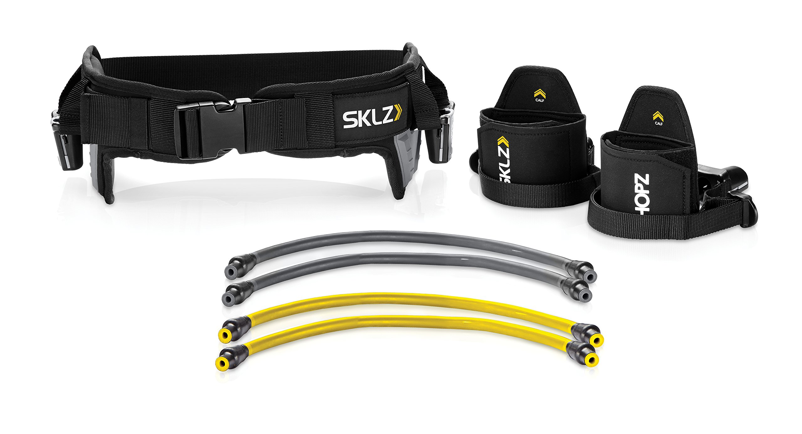 SKLZ HOPZ Straps Vertical Jump Trainer with Belt, Cuffs, and Resistance Bands by SKLZ