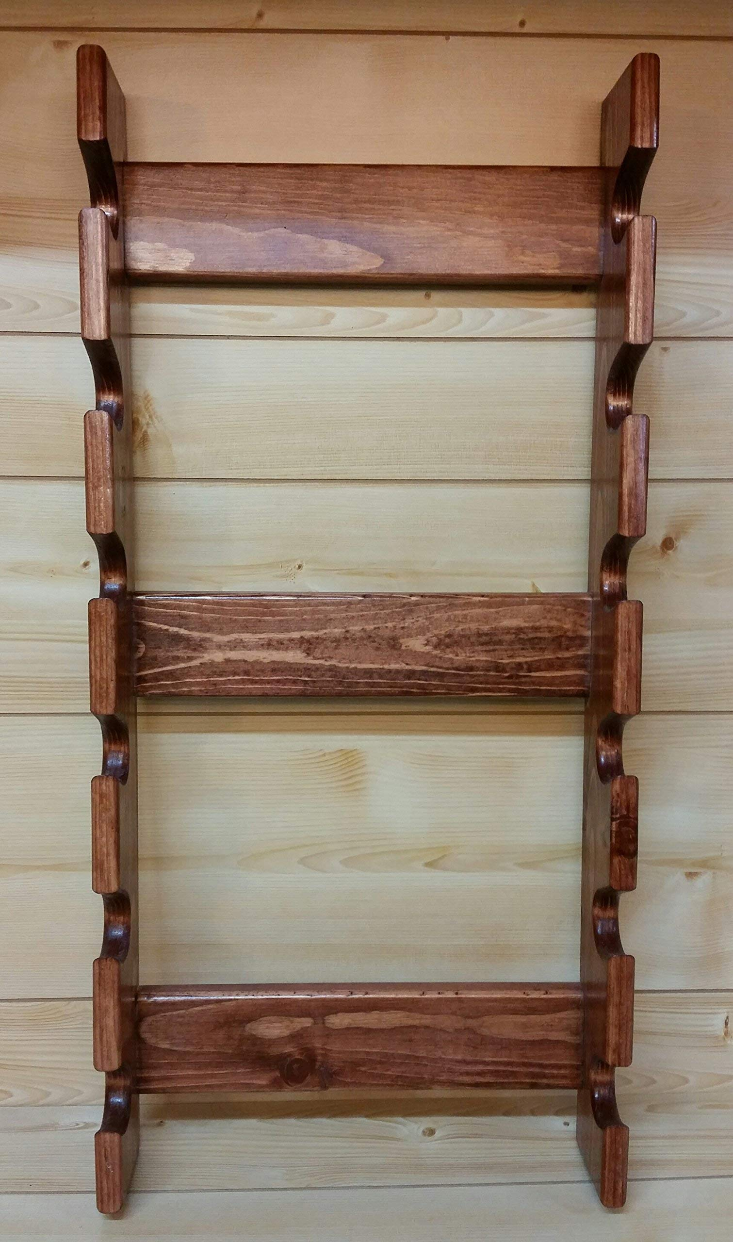 Rolling Pin Rack with Six Slots - Multiple Rolling Pin Rack - Rolling Pin Holder - Rolling Pin Storage - Rolling Pin Rack for 6 by Rusty Nail Custom Woodworking (Image #6)