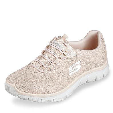 Skechers Empire 12811 WSL Damen Slipper Aus Textilmaterial Flexible Laufsohle, Groesse 41, Weiß