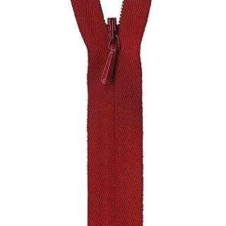 """YKK Unique Invisible Zipper 22"""", Red"""