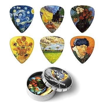 BestSounds - Púas de celuloide para guitarra eléctrica, acústica o bajo, varios colores