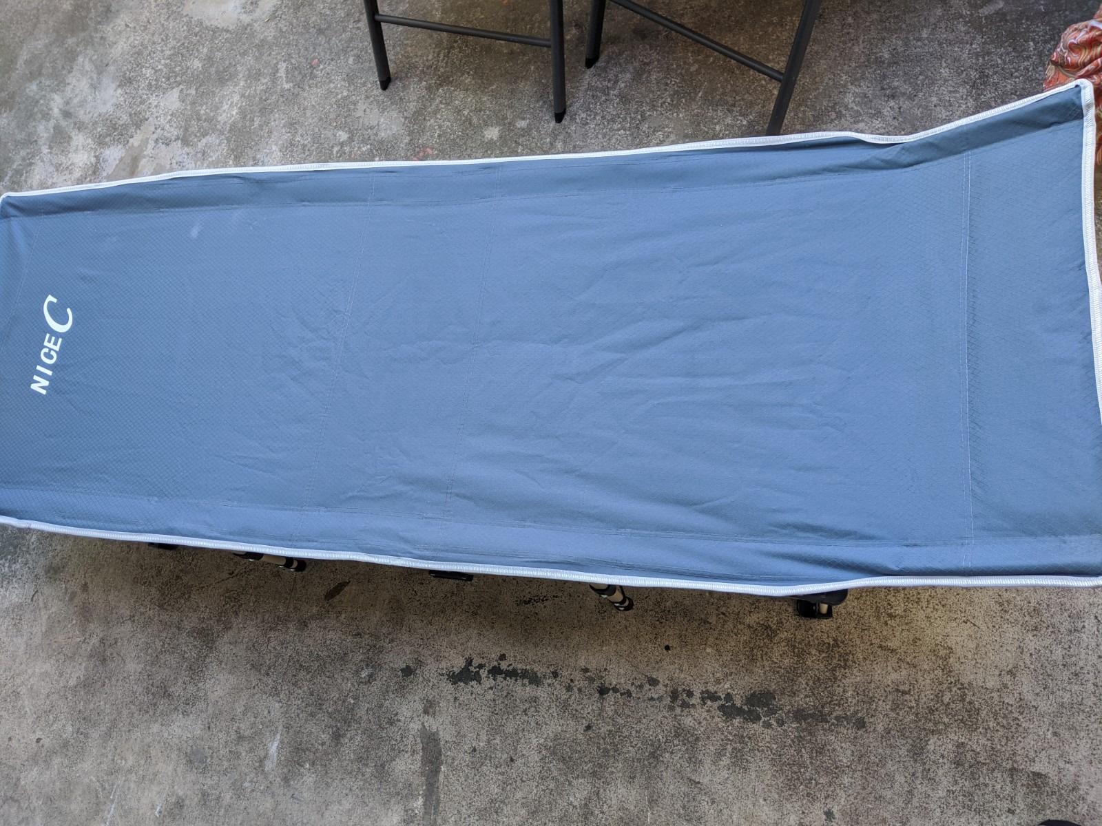 Nice C Folding Camping Cot, Sleeping Bed, Tent Cot, with Pillow, Carry Bag & Storage Bag photo review