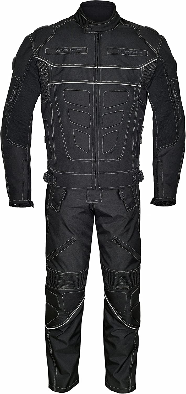 Leder24h Herren Motorradkombi Jacke und Hose 2062