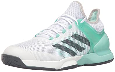 adidas Men s Adizero Ubersonic 2 Tennis Shoe Ice Green DGH Solid Grey White  12.5 a6774e0f0