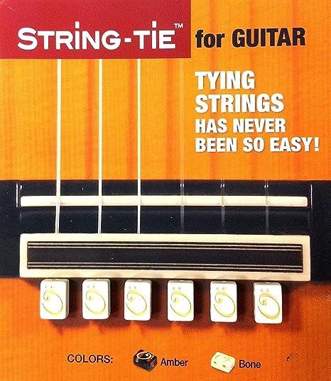 String-Tie para Guitarra Clásica (Blanco)