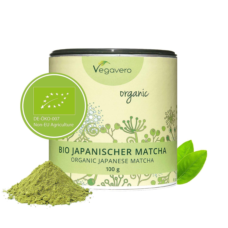 Té Matcha ORGÁNICO Vegavero® | TESTADO EN LABORATORIO | SIN GLUTEN | Original Japonés | 100 g | L Teanina, Cafeína, Vitaminas y Antioxidantes | ...