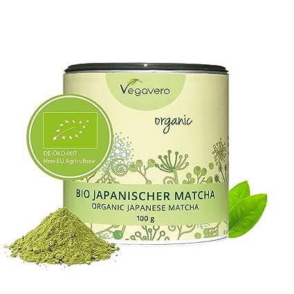 Té Matcha Orgánico Vegavero® ORIGINAL Japonés: de Aichi y Kagoshima | 100g | L Teanina, Cafeína, Vitaminas y Antioxidantes | Energía + Bienestar + ...