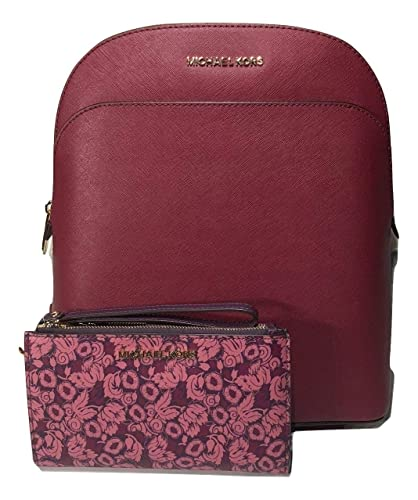 9be218073fe1 Amazon.com: MICHAEL Michael Kors Emmy Large Backpack bundled with Michael  Kors Jet Set Travel Double Zip Wallet Wristlet (Mulberry): Shoes