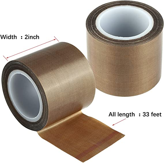 HUPLUE 1 Pack PTFE Teflon Tape Roll High Temperature Resistant ...