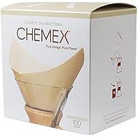Chemex Papier-Filter FSU-100, quadratische Natur Filter für die 6, 8 und 10 Tassen-Karaffe, 100 Stück