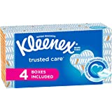 Kleenex Everyday Facial Tissues, 160Tissues per Flat Box, 4 Pack