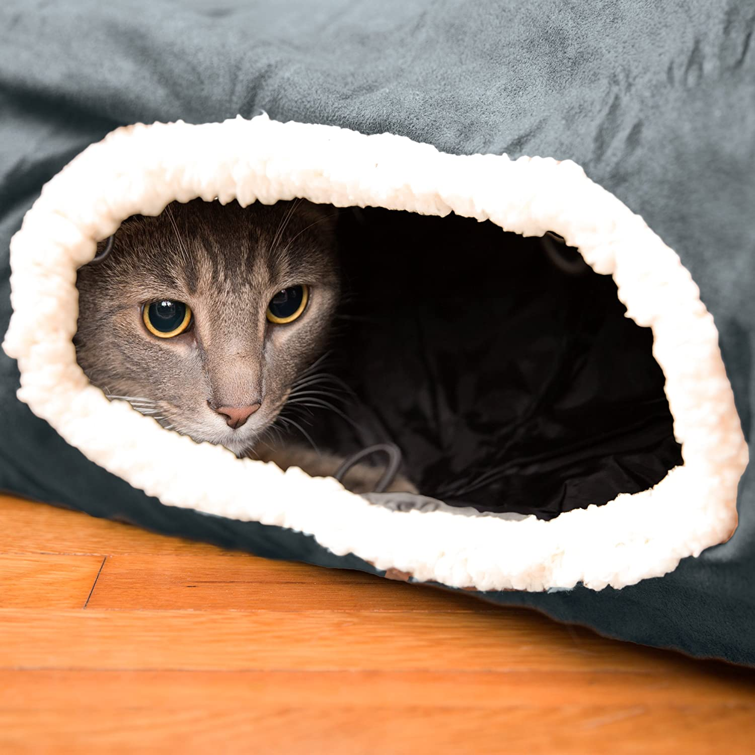 Interactive Cat Tunnel Toy- Best for Playful Cats And Kittens - Fun Cat Hideaway with Tunnel Attachments- SOFT and 100% Pet Friendly - Extra Large Pet Tunnel