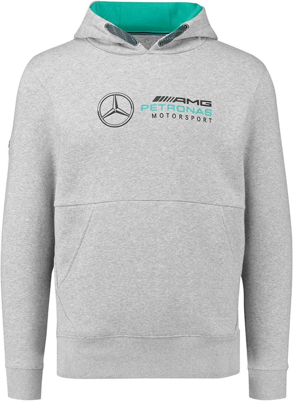 B079MDYS8Q Mercedes Benz AMG Petronas Formula 1 Men's Gray MAMGP Hooded Sweatshirt F1 81Ig1Imx4AL