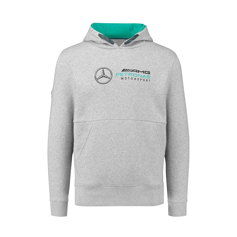 Mercedes Benz AMG Petronas Formula 1 Mens Gray MAMGP Hooded Sweatshirt F1