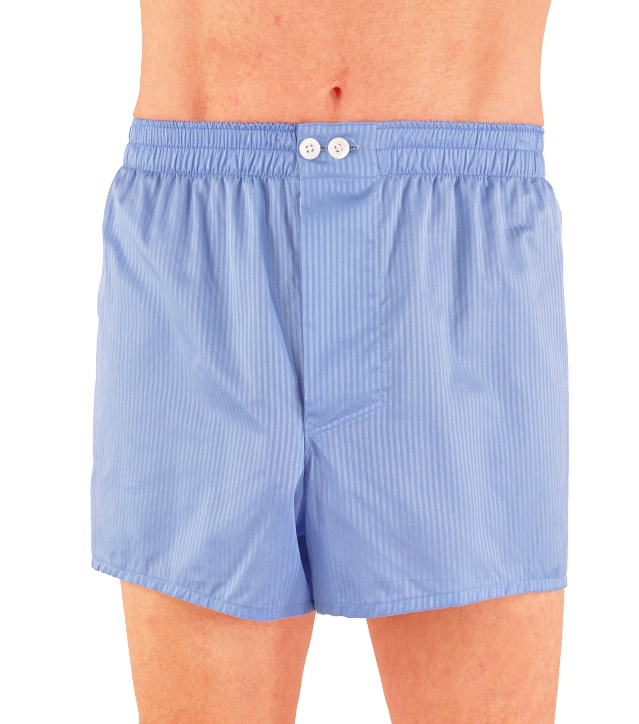 World's Finest Woven Boxer Shorts - 3 Pairs Medium/Blue by Kabbaz-Kelly (Image #1)