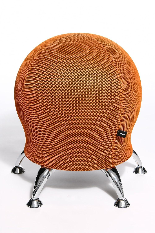 Topstar Wellnessstuhl//Sitzball//Hocker SITNESS 5 Stoff orange Chrom