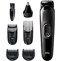 Braun Hair Clippers for Men MGK3220, 6-in-1 Beard Trimmer, Ear and Nose Trimmer, Mens Grooming Kit, Cordless…