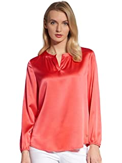 52c09b70087164 BASLER Damen Bluse Bluse mit Abnehmbarer Schluppe Knopf: Amazon.de ...
