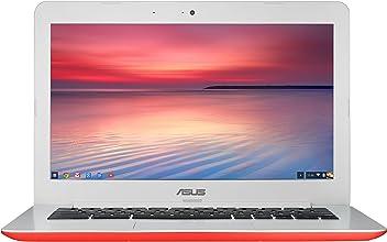 ASUS Chromebook 13 Inch HD with Gigabit WiFi, 16GB Storage & 4GB RAM (Red)