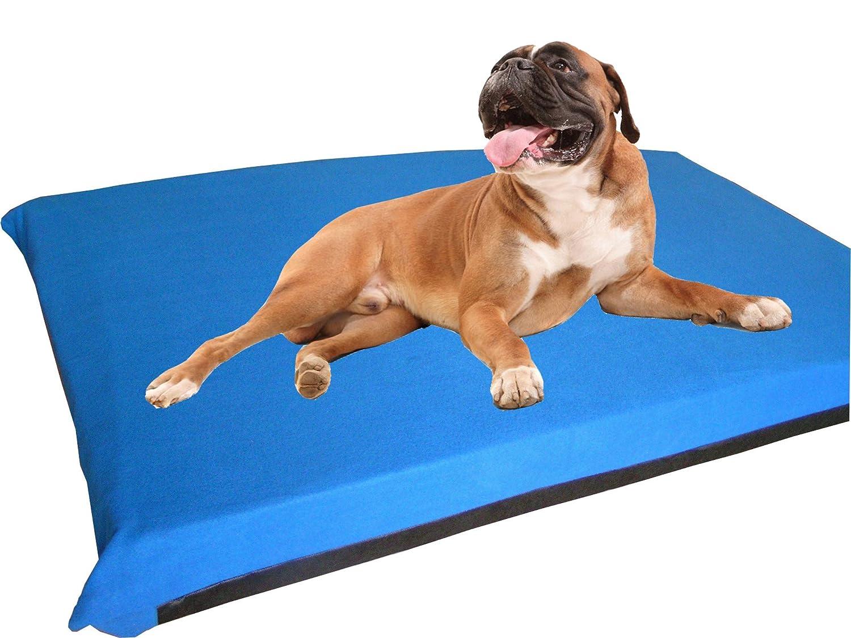 kosipet® grande Deluxe colchón de espuma de alta densidad impermeable cama para perro camas Azul Polar: Amazon.es: Productos para mascotas