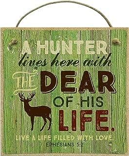 product image for Imagine Design Outdoors Hunter Lives Here w/Deer Magnet