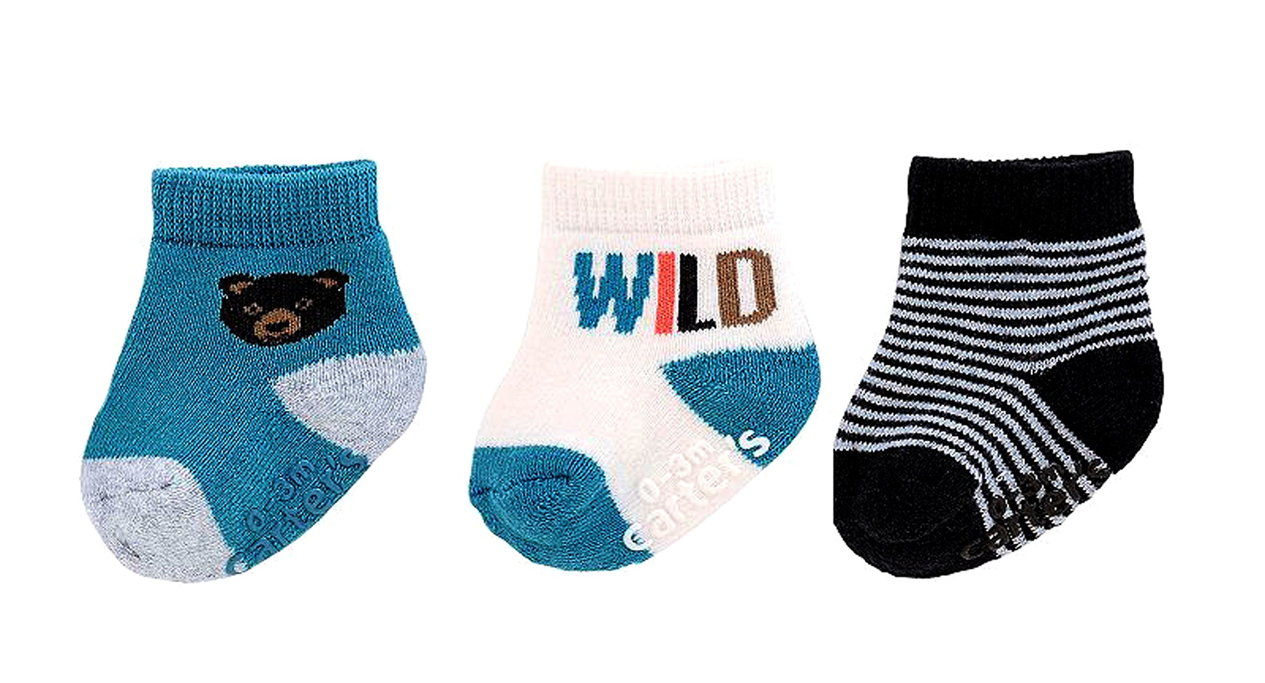 Carter's Baby Boys' 3-Pack Happy Camper Keepsake Socks 0-3 Months