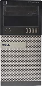 Dell Optiplex 7010 Tower, Intel Core i7-3770 3.4GHz, 16GB RAM, 2TB Hard Drive, DVDRW Windows 10 Pro 64bit (Renewed)
