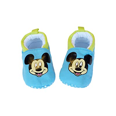 Baby Rae Infant/Toddler Blue Mickey Sporty Soft Sole Cotton Slip-On Shoes