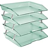 Acrimet Facility Letter Tray 4 Tiers (Clear Green Color)