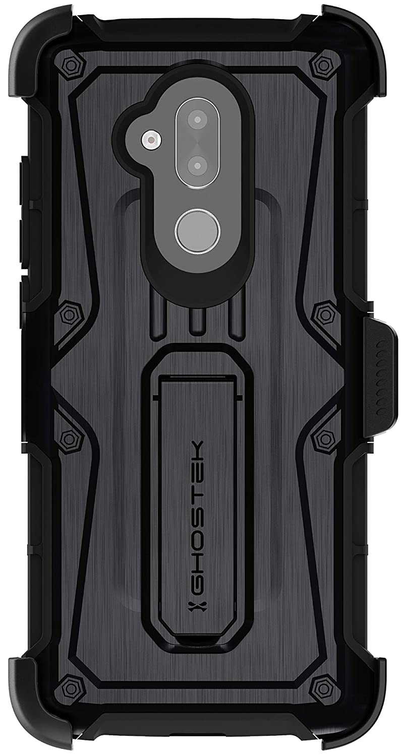 Ghostek Iron Armor Military Grade Case with Kickstand Designed for Alcatel 7 – Black