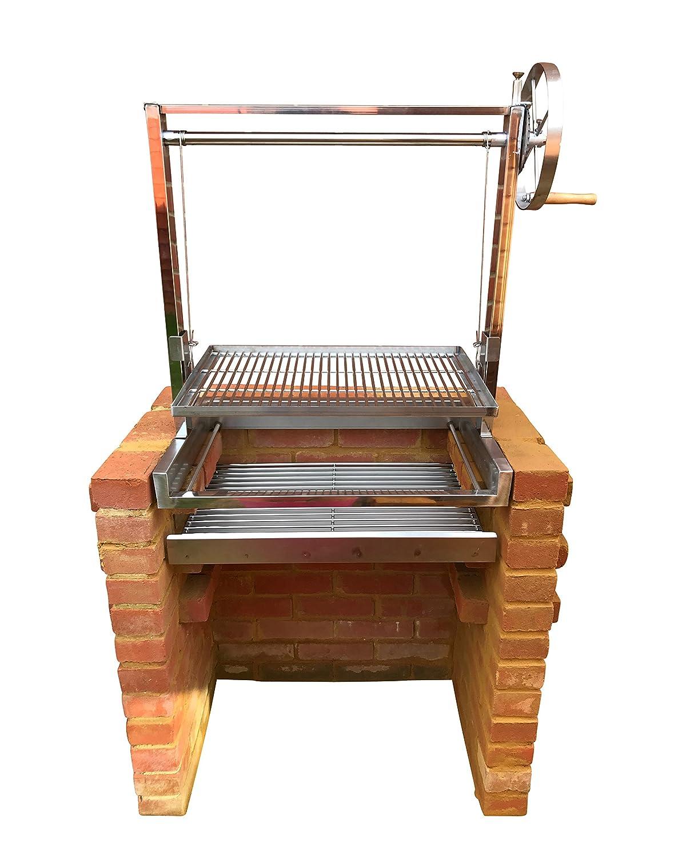 SunshineBBQs Edelstahl in Brick BBQ DIY Grill Kit mit Argentinische ...