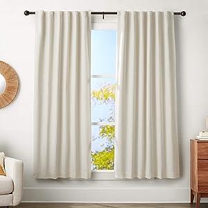 AmazonBasics 1.25-Inch Curtain Rod with Round Finials - 72 to 144 Inch, Espresso (Dark Bronze)