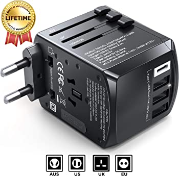 Gimars Upgraded Stable Connected Universal Travel Adapter