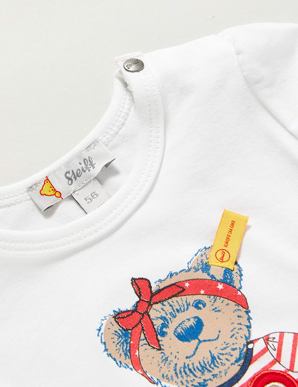 Steiff Baby-M/ädchen Mit S/ü/ßer teddyb/ärapplikation Bluse Langarm
