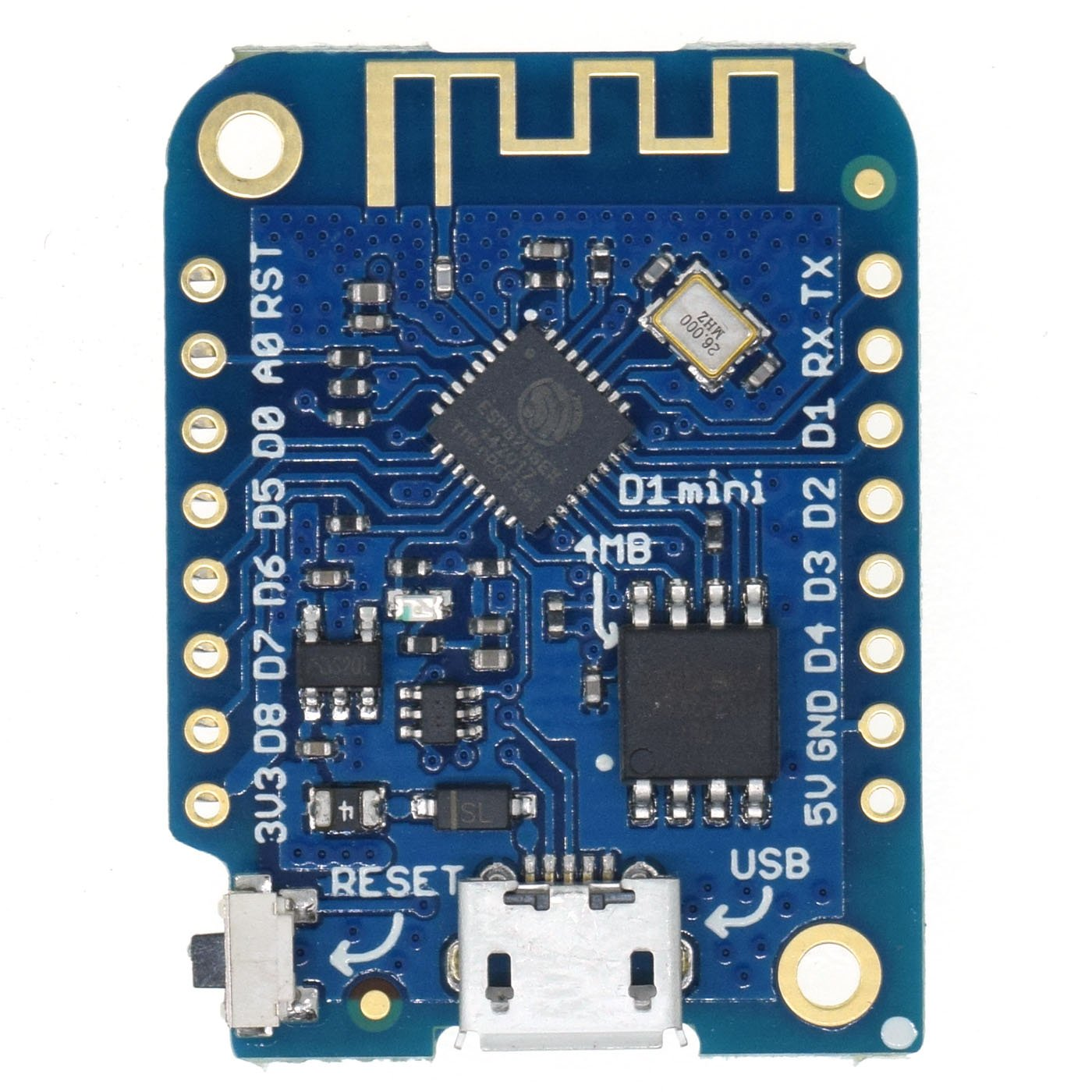 UTL D1 mini V3.1.0 - WEMOS WIFI Internet of Things development board based ESP8266 4MB MicroPython Nodemcu Arduino Compatible
