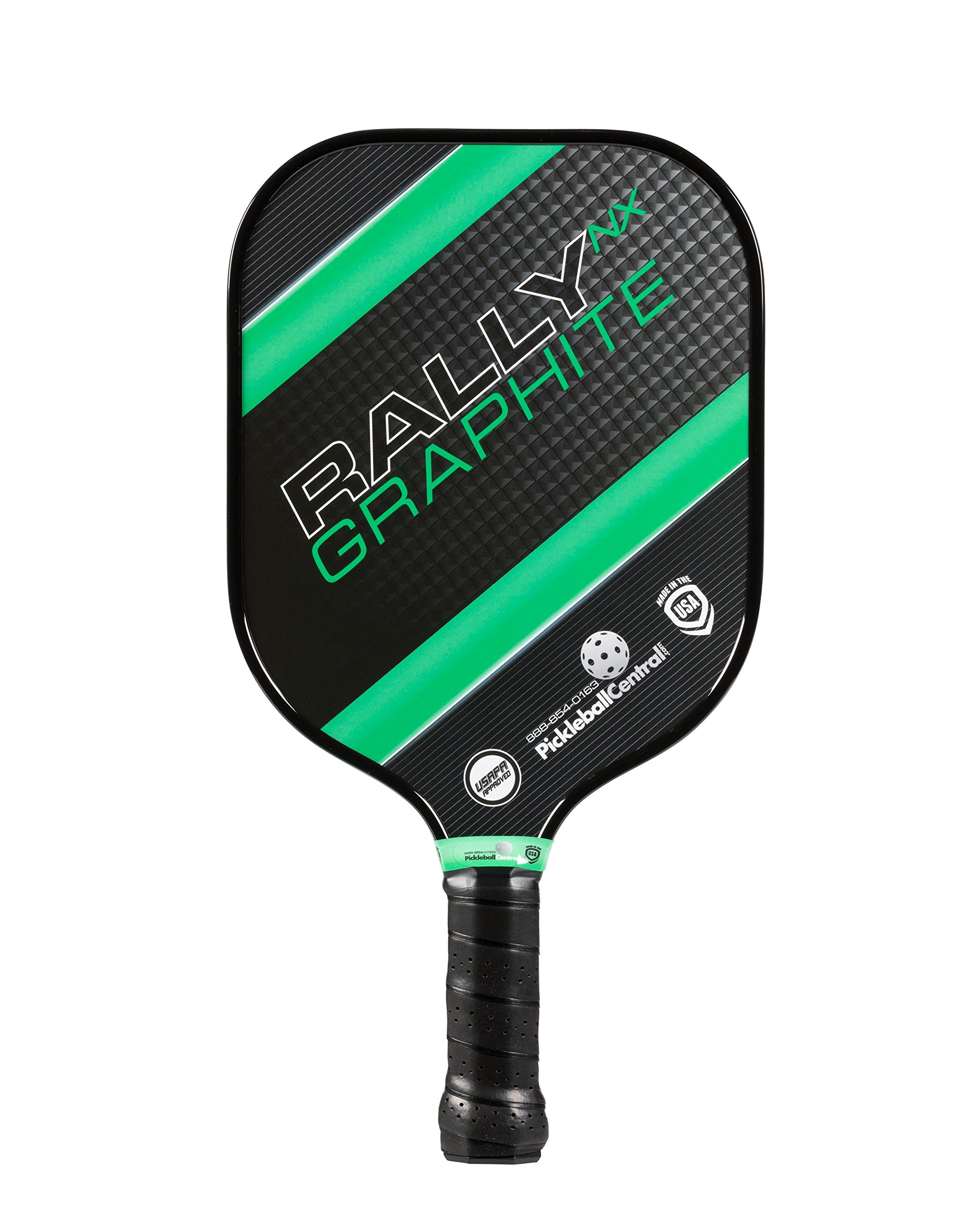 Rally NX Graphite Pickleball Paddle (Green) - Nomex Honeycomb Core & Graphite Face - Lightweight 7.3-7.7 oz. - Meets USAPA Specs.