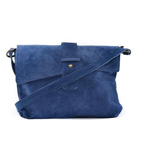 7282271cdf OH MY BAG Sac à main en cuir Nubuck/daim Burano bleu: Amazon.fr ...