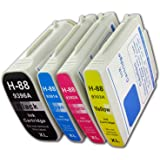 The Ink Squid 1 Set of HP 88 XL (4 Cartridges) (C9396AE/C9391AE/C9392AE/C9393AE) Non-oem Compatible Ink Cartridges for the HP Officejet Pro K5400 K5400dn K5400dtn K5400dtwn K5400n K550 K550dtn K550dtwn K8600 K8600dn L7480 L7550 L7555 L7580 L7590 L7680 L7700 L7750 L7780 Printers